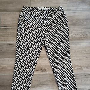 Joie Cropped black and white pants